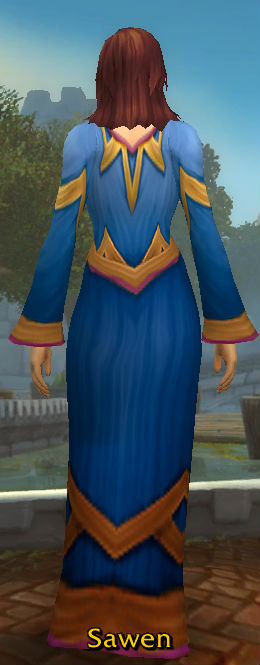 Blue Linen Robe back2