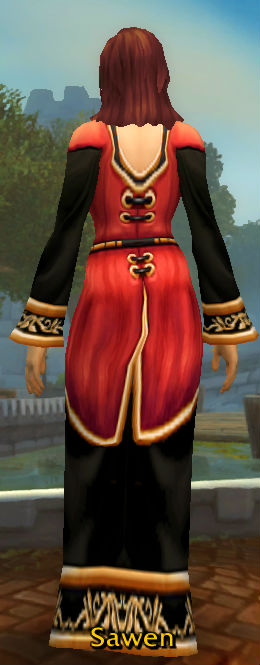 Imperial Red Robe back