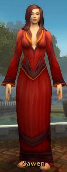 Red Linen Robe