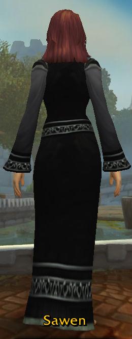 Black Velvet Robes back