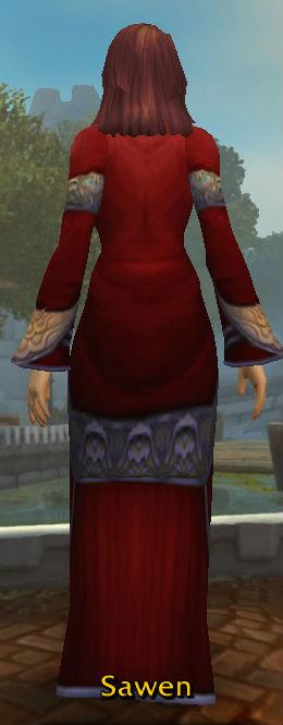 Crimson Silk Robe back