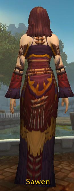 Faded Spirit-Wrencher Robe back