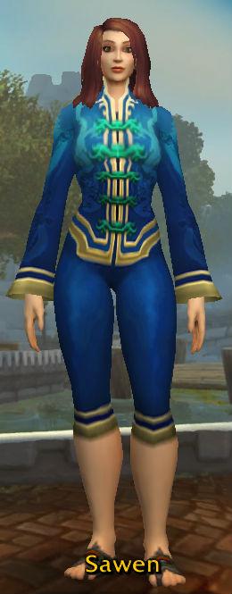 Festive Blue Pant Suit