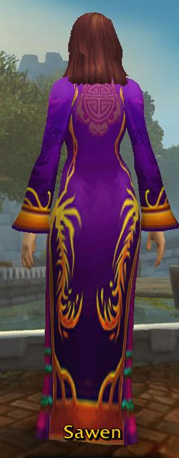 Festive Purple Dress back