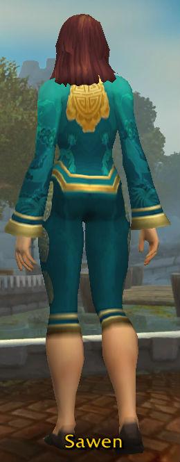 Festive Teal Pant Suit back