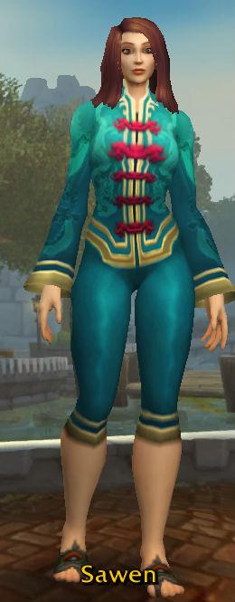 Festive Teal Pant Suit