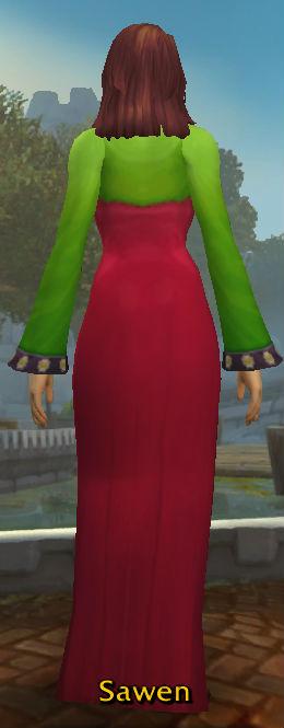 Green Wedding Hanbok back