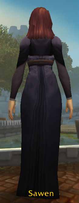 Simple Black Dress back