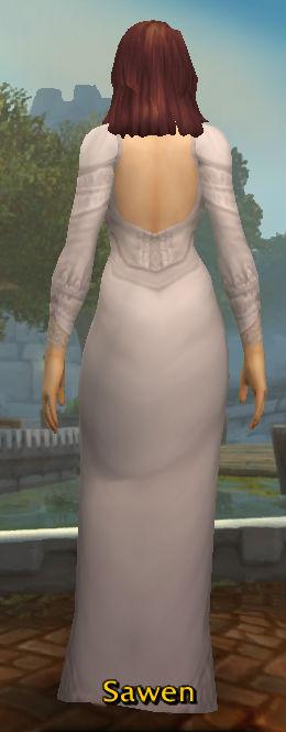 White Wedding Dress back