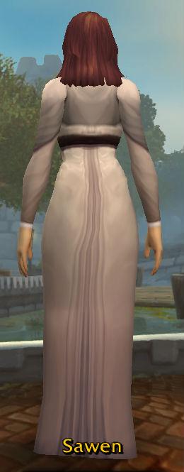 White Woolen Dress back