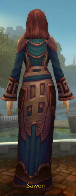 Silkmasters' Satin Robe back
