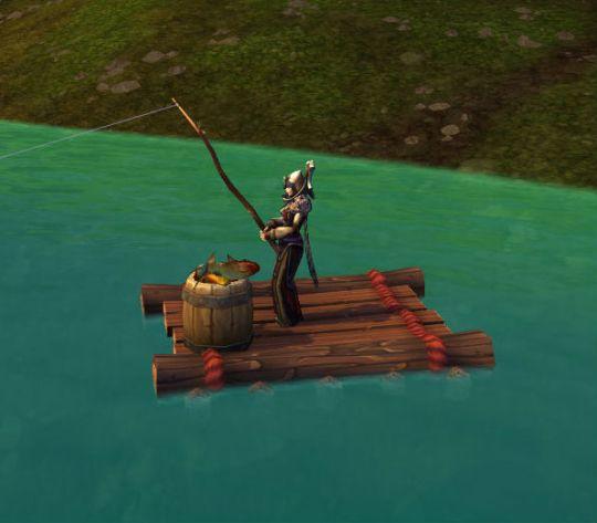 Anglers Fishing Raft
