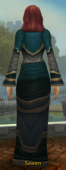 Gown of the Last Priestess back