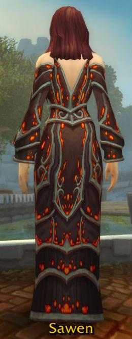 Black Embersilk Gown back