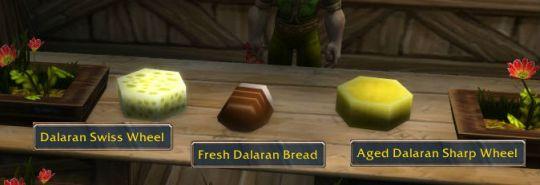 Dalaran cheese and bread